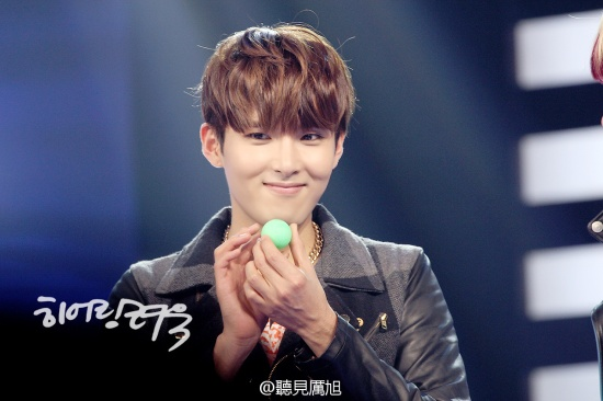 130126 Ryeowook at Hubei TV Recording