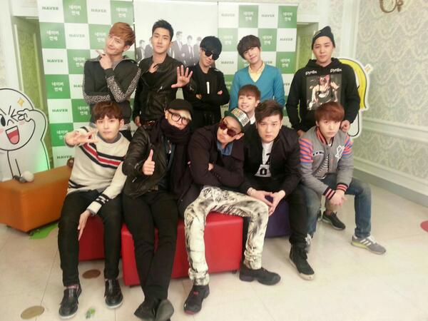 K PoP StoP: 130321 Super Junior Line Live Chat