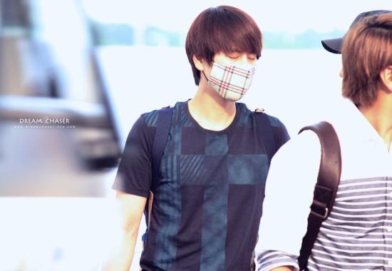 130802 Kyuhyun at Incheon Airport (to Bangkok) by DreamChaser-Kyu (2)