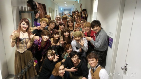 131121 Sungmin with JTR Cast