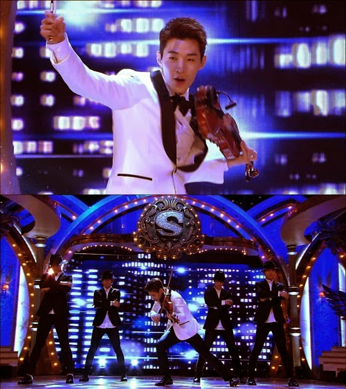 140328 Henry wows everyone with his violin and piano skill