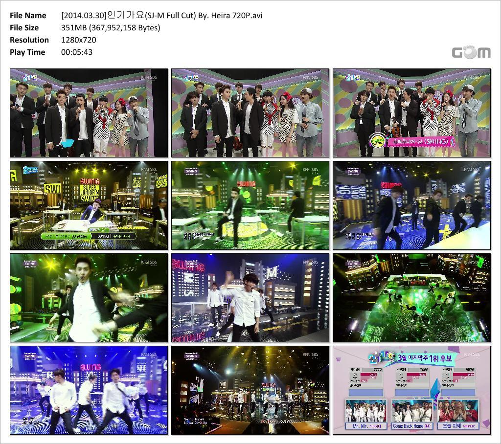 140330 SBS Inkigayo with Super Junior-M 'SWING' [Video] + DL Links!  