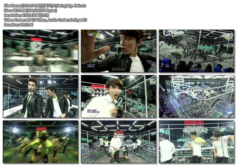 140406 SBS Inkigayo with Super Junior-M 'SWING' [Video] + DL Links! |