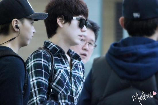 140414 Kyuhyun at Incheon Airport (to Beijing) cr- Marloes ‏@_ChoMinAm (3)