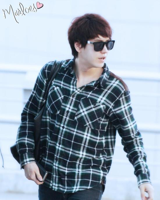 140414 Kyuhyun at Incheon Airport (to Beijing) cr- Marloes ‏@_ChoMinAm (5)