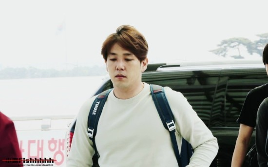 140420 Kangin at Incheon Airport (to Nanjing) cr-小渔Fishhhhh  (2)