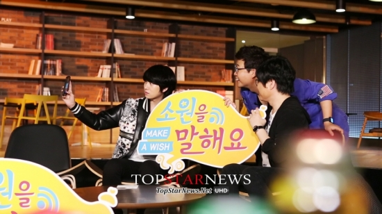 140822 Official, MBC 'Make A Wish' with Heechul2