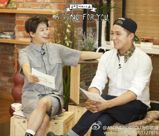 140826 ASONGFORYOU为你歌唱 Weibo Update with Kangin (5)