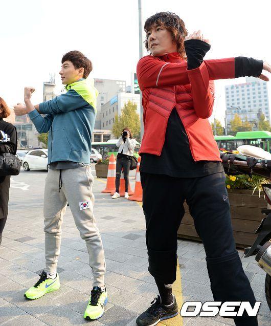 141106 leeteuk kangin kim janghoon's mv filming007