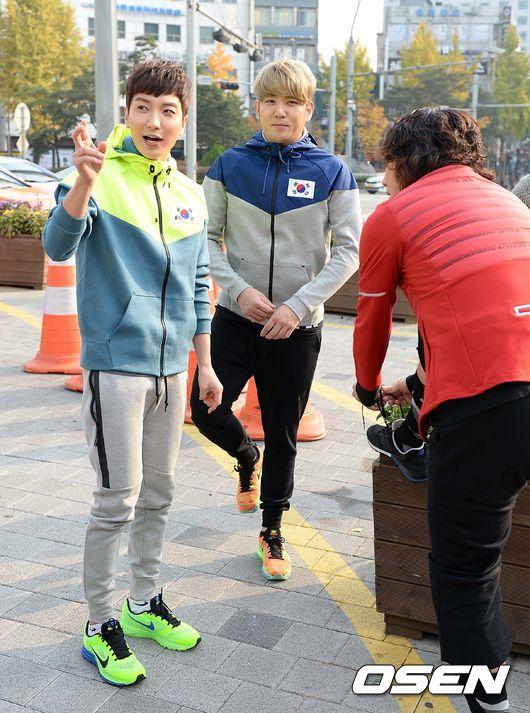 141106 leeteuk kangin kim janghoon's mv filming012