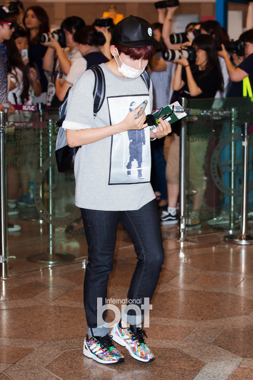 150725 Official, Yesung, Donghae, Ryeowook at Gimpo Airport (to Osaka)2