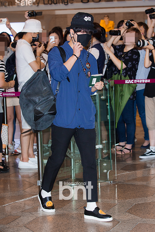 150725 Official, Yesung, Donghae, Ryeowook at Gimpo Airport (to Osaka)4