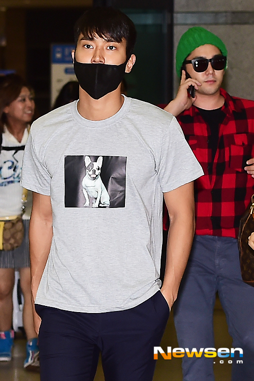 150727 Official, Kangin, Siwon and Eunhyuk at Incheon Airport (from Osaka) 1
