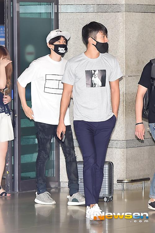 150727 Official, Kangin, Siwon and Eunhyuk at Incheon Airport (from Osaka) 3