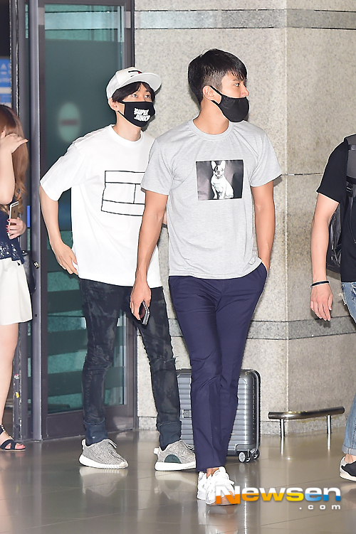 150727 Official, Kangin, Siwon and Eunhyuk at Incheon Airport (from Osaka) 3