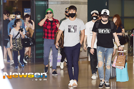 150727 Official, Kangin, Siwon and Eunhyuk at Incheon Airport (from Osaka) 5