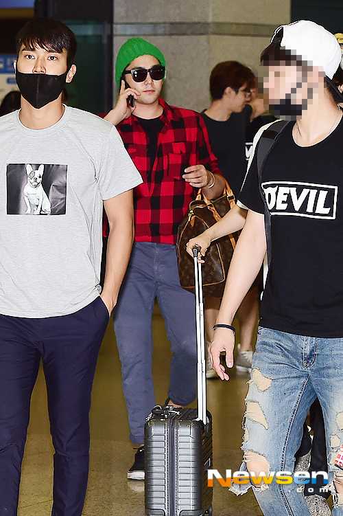 150727 Official, Kangin, Siwon and Eunhyuk at Incheon Airport (from Osaka) 6