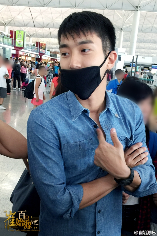 150804 Siwon at HK Airport By 崔始源吧 3