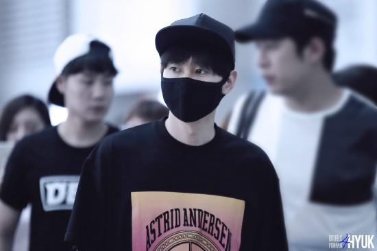 150814 Eunhyuk at Incheon Airport (to Taiwan)5