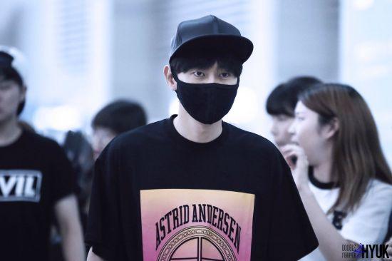 150814 Eunhyuk at Incheon Airport (to Taiwan)7