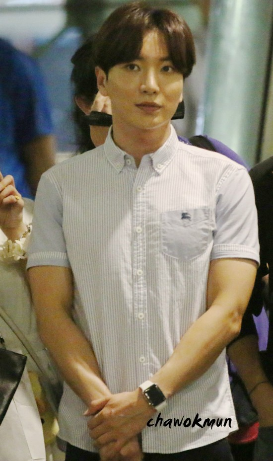 150815 Leeteuk, Eunhyuk and Donghae at Incheon Airport (from Taiwan) 5