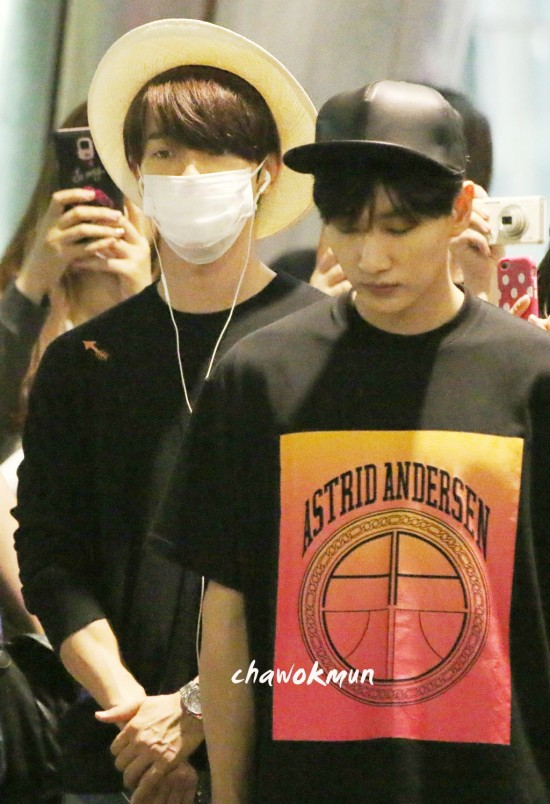150815 Leeteuk, Eunhyuk and Donghae at Incheon Airport (from Taiwan) 7