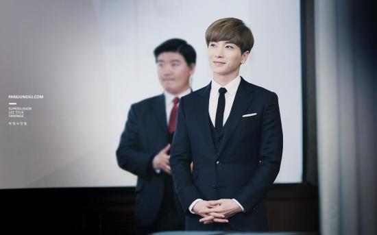 151110 Anhui TV '遇见男神 (남신을 만나다)' Press Conference with Leeteuk 2