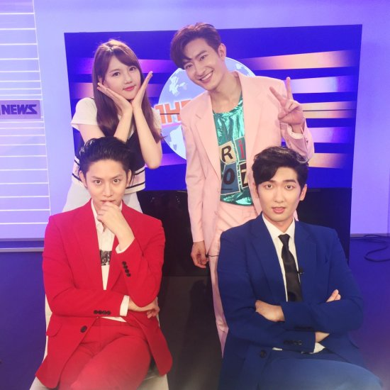 160719 sbsmtvtheshow Twitter Update with Heechula and Zhou Mi3