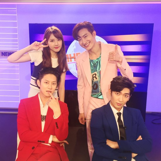 160719 sbsmtvtheshow Twitter Update with Heechula and Zhou Mi4